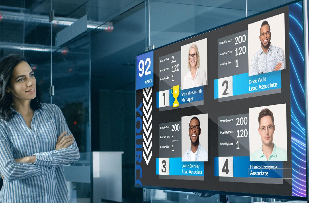 Performance Monitoring Digital Signage