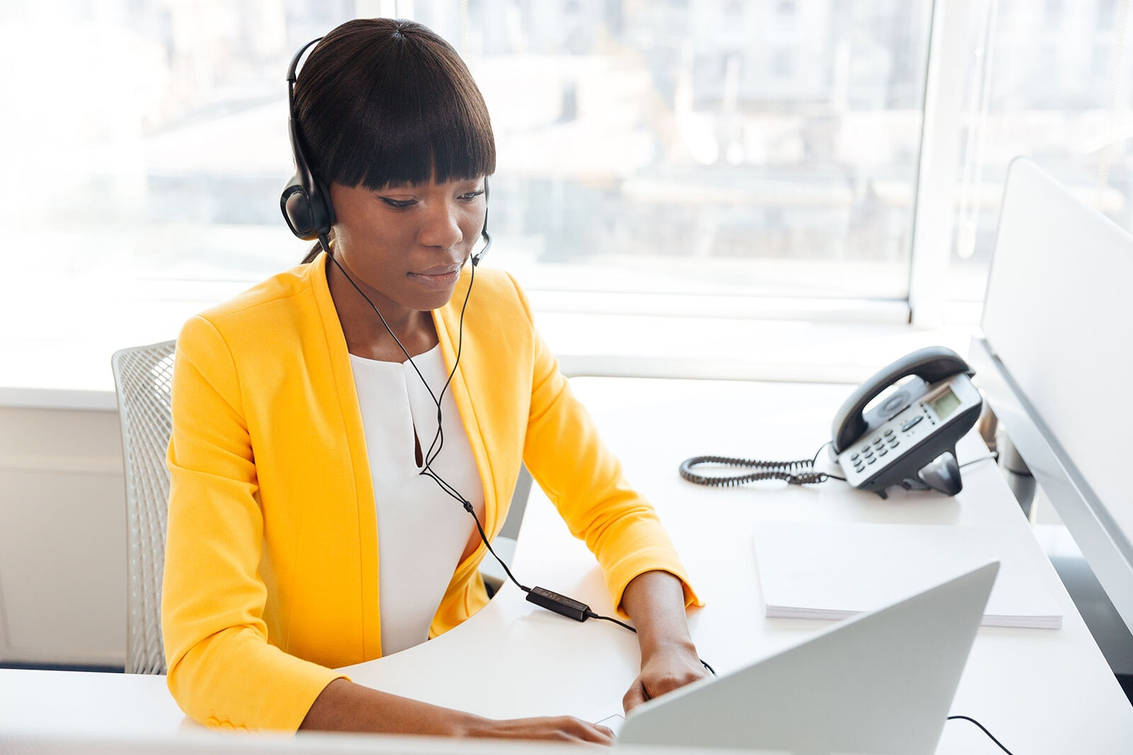 Agent reviewing workplace communications
