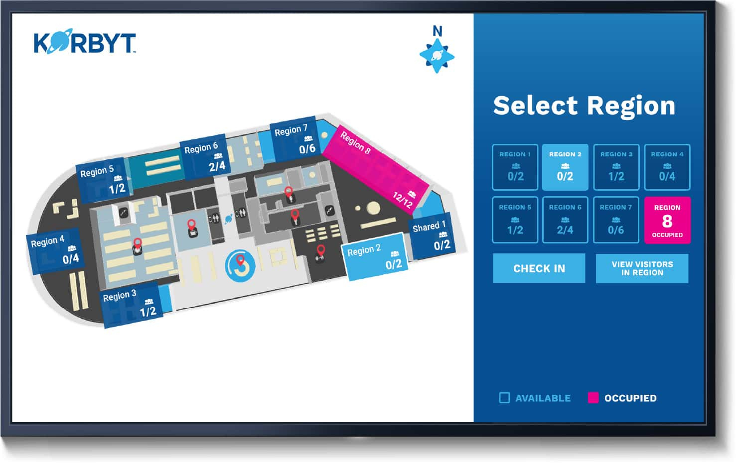 Space management selection map