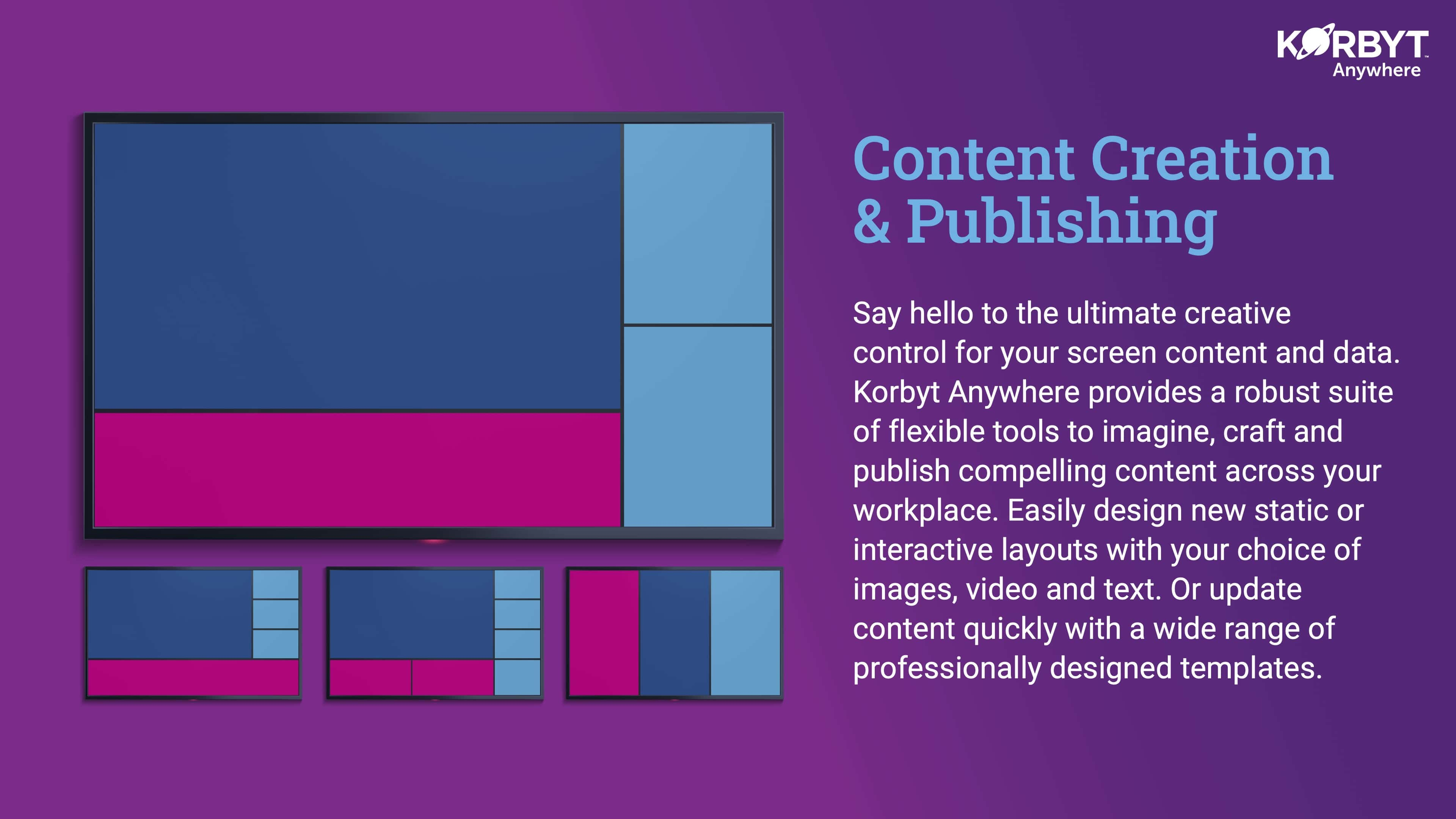 Signage content layouts
